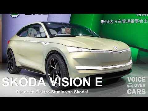 Skoda VISION E Voice over Cars Auto News Shanghai 2017