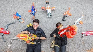 LTT Game Nerf War : Winter Warriors Mega Nerf Guns Fight Attack BOSS Criminal Group