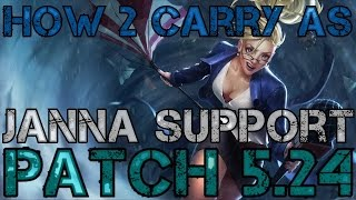 ► How 2 Carry as Janna Support! - Full Game Commentary - League of Legends