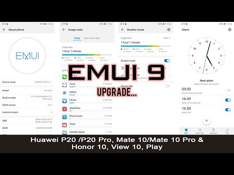 EMUI 9] Android Pie 9 Upgrade on Huawei P20/P20 Pro, Mate 10