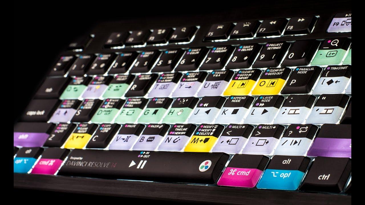 Windows DaVinci Resolve Keyboard for Resolve 16 Backlit Editors Keys for PC