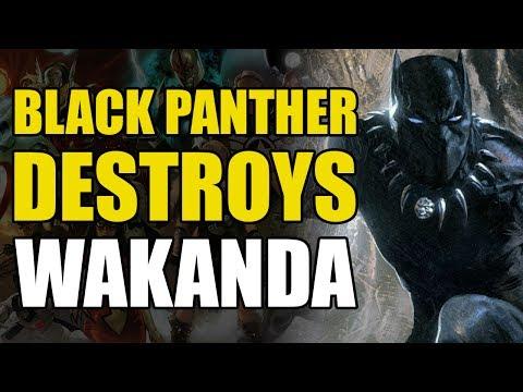 Black Panther Destroys All Vibranium (Black Panther: Doomwar)