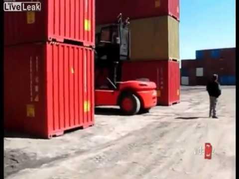 Container falls