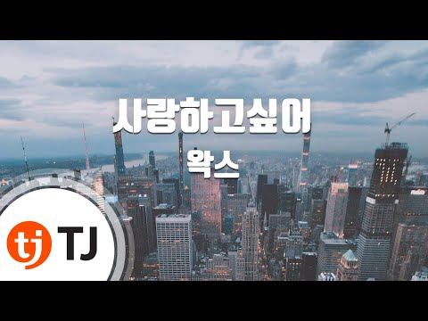 [TJ노래방] 사랑하고싶어 - 왁스(WAX) ( - WAX) / TJ Karaoke