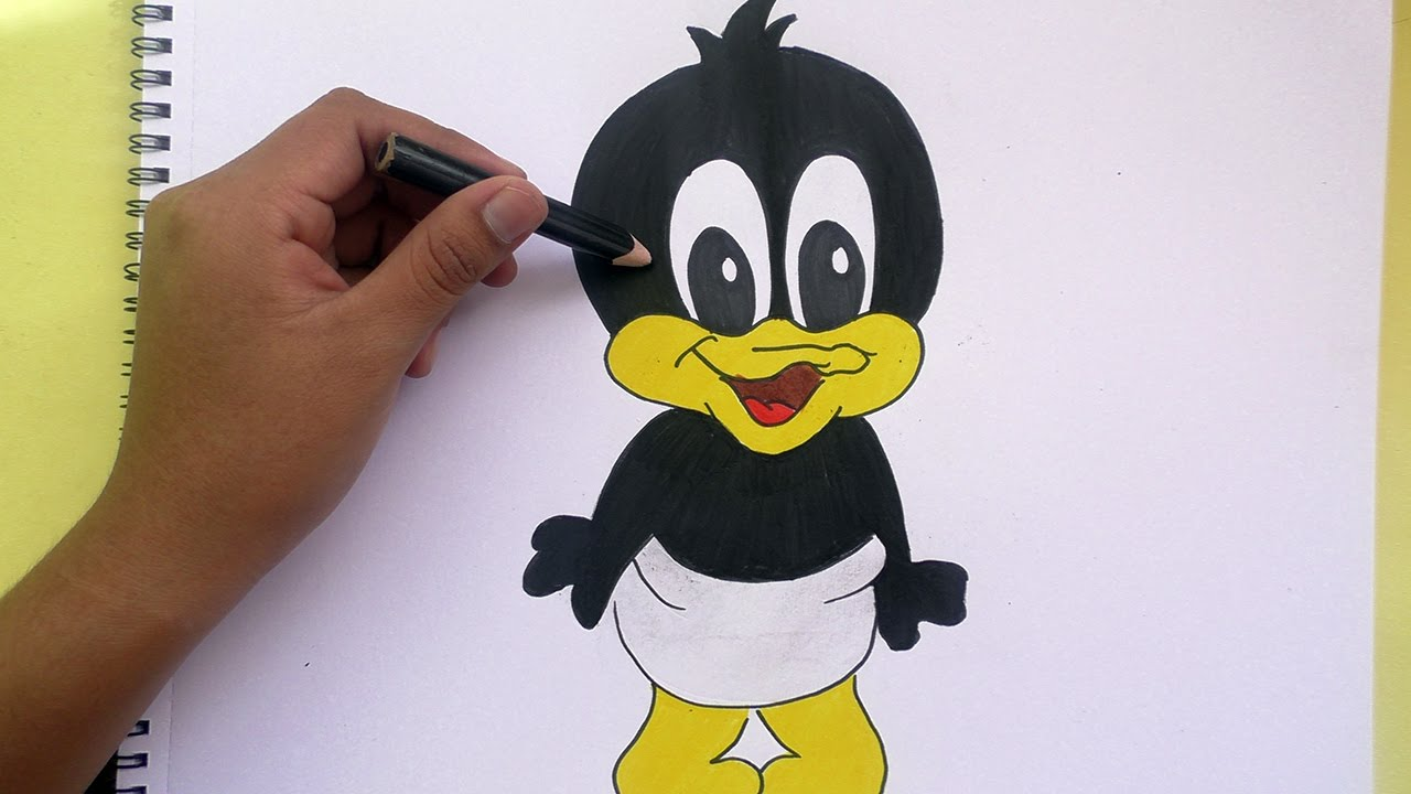 Dibujando Y Pintando A Pato Lucas (Looney Tunes)- Drawing
