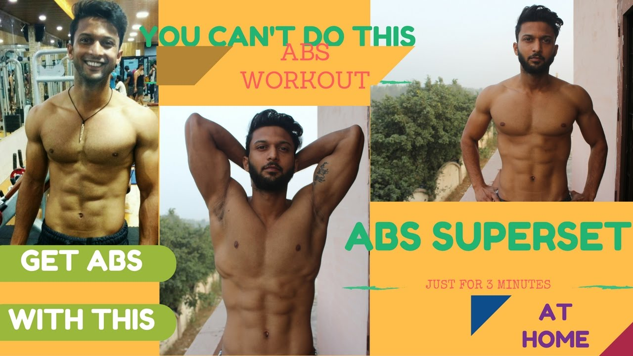 How To Get 6 Packs Abs | Home Workout 2017 Hindi - YouTube