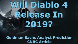 Goldman Sachs Analyst Predicts Diablo 4 Will Release In 2019