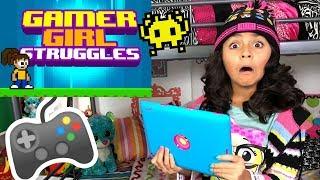 Gamer Girl Struggles - Funny Skits : The Evangeline Show // GEM Sisters
