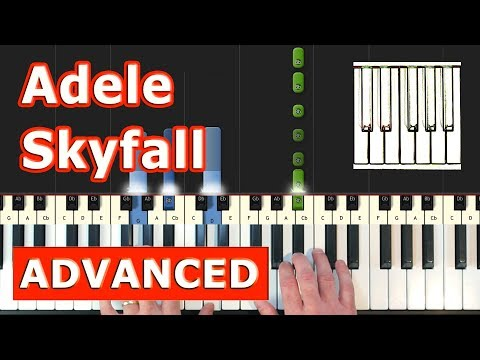 Adele - Skyfall - Piano Tutorial Easy (James Bond) - Sheet Music (Synthesia)