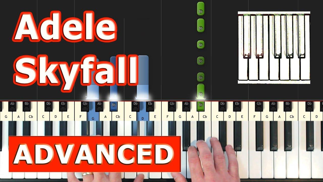 Adele - Skyfall - Piano Tutorial Easy (James Bond) - Sheet Music (Synthesia)