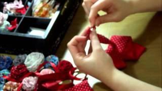 Flor de tira de tecido