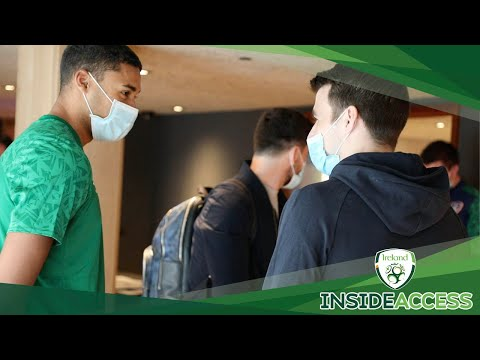INSIDE ACCESS | Ireland squad arrive in Manchester