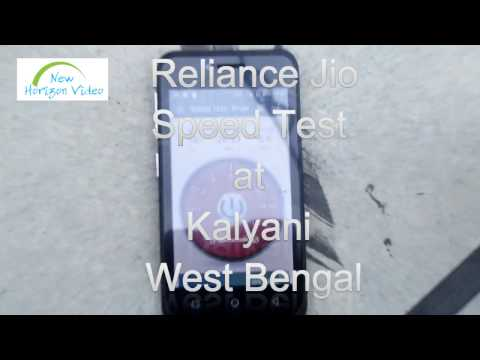 Reliance Jio Speed Test  Kalyani  West Bengal