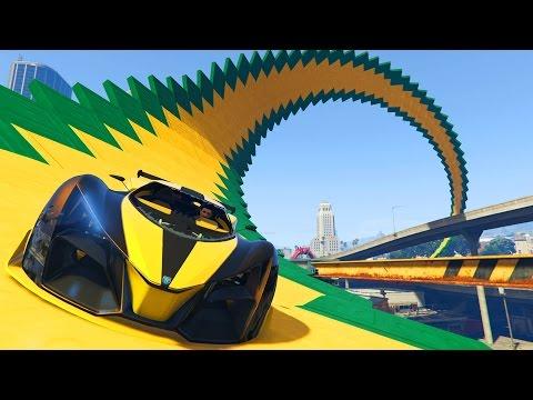 ME DAN MIEDO LAS ACROBACIAS!!! - CARRERA GTA V ONLINE - GTA 5 ONLINE