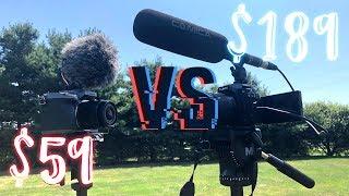 $189 Shotgun Microphone VS. $59 Røde VideoMicro - WHICH WINS?    Comica CVM-VP2 Mic Review