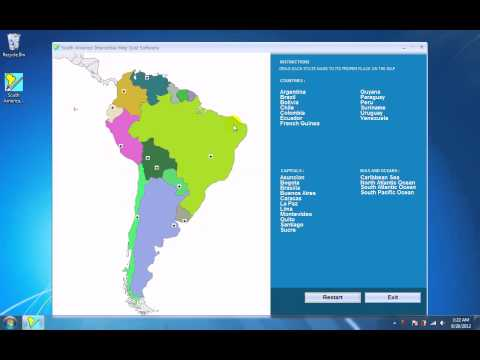 How To Use South America Interactive Map Quiz Software