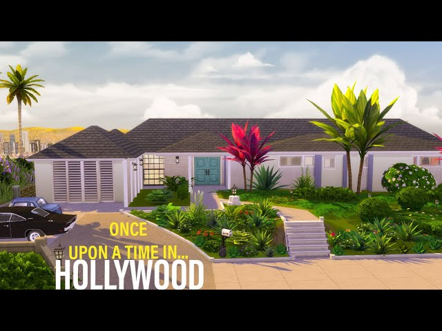 Rick Dalton's House in Once Upon a Time in… Hollywood | The Sims 4 - House Building |