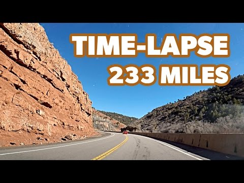 Beautiful Drive From Salt Lake City To Moab (Time-Lapse)