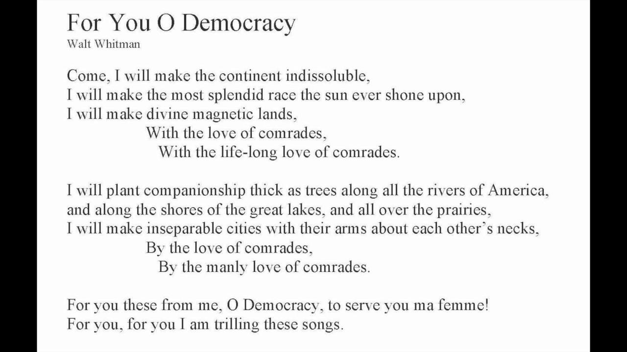 Walt Whitman Poems About Love 6