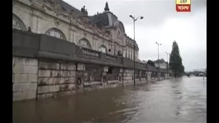 Flood in France, area near Eiffel Tower flooded with water