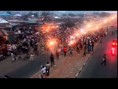 Bosso, Minna Niger State, people jubilating as Buhari Won..