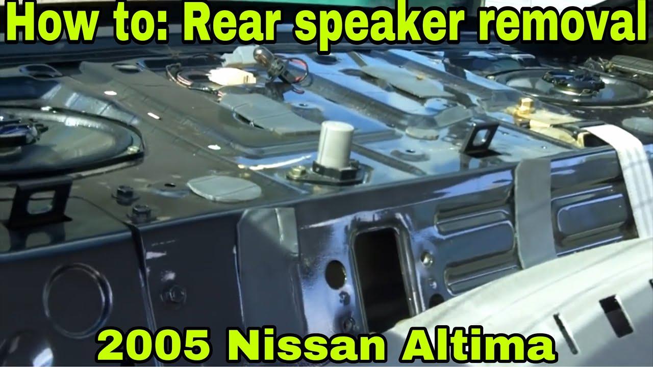 2012 Nissan Sentra Wiring Diagram Nissan Altima Rear Speaker Installation How To Youtube