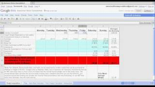 Awesome Fitness Spreadsheet Tutorial 2/5