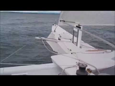 Sailing Russell Brown's proa Jzerro
