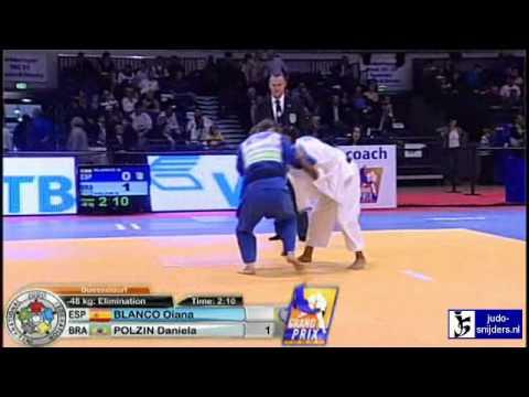 Judo 2010 Grand Prix Dusseldorf: Oiana Blanco (ESP) - Daniela Polzin (BRA) [-48kg]