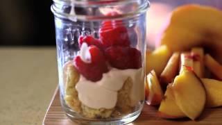 Peach Raspberry A La Mode Parfait Recipe