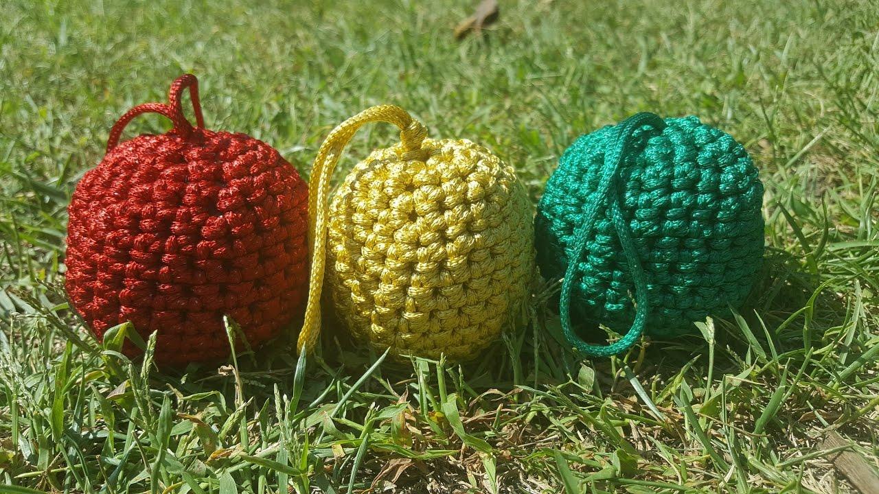 tutorial bolas rbol navidad a crochet