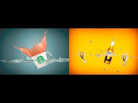 starbucks coffee and corona beer splashs ligting setup