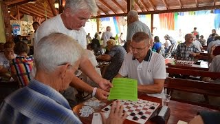 Kranevo 2016. World Draughts Disabilities Championship. Breakfast, beach, lunch, round 1, pool, dinn