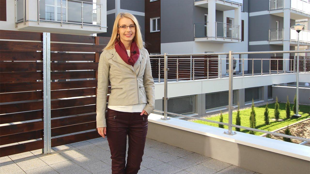 Oglądamy mieszkanie 53 m2 z pięknym tarasem, blisko lasu i jeziora
