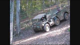 Gama Goat going up hill - backwards at Steel Soldiers rally