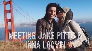 Meeting Jake Pitts from Black Veil Brides and Inna Logvin in San Francisco