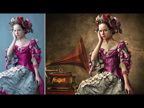Amazing Texture Background Add in Portrait - Photoshop Tutorial