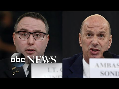 Trump fires 2 men who testified in the House impeachment hearings | ABC News