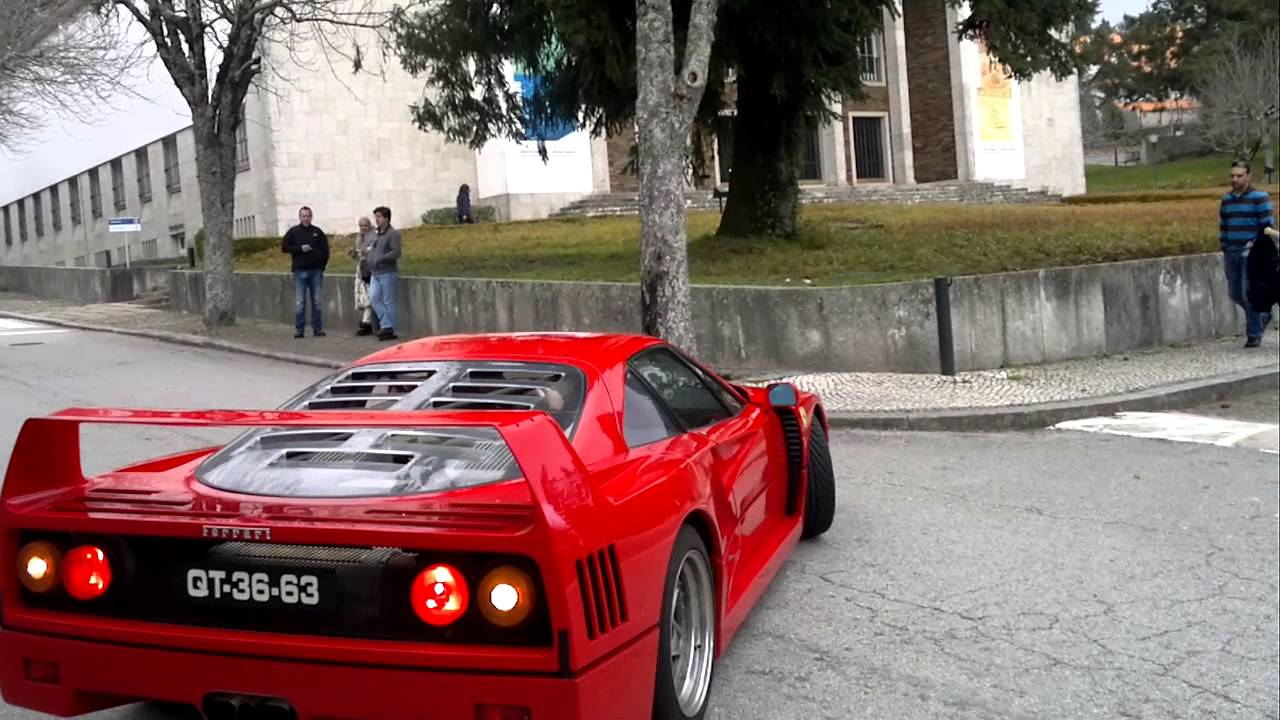 Ferrari F40 1990 Do Museu Do Caramulo Na Estrada Youtube