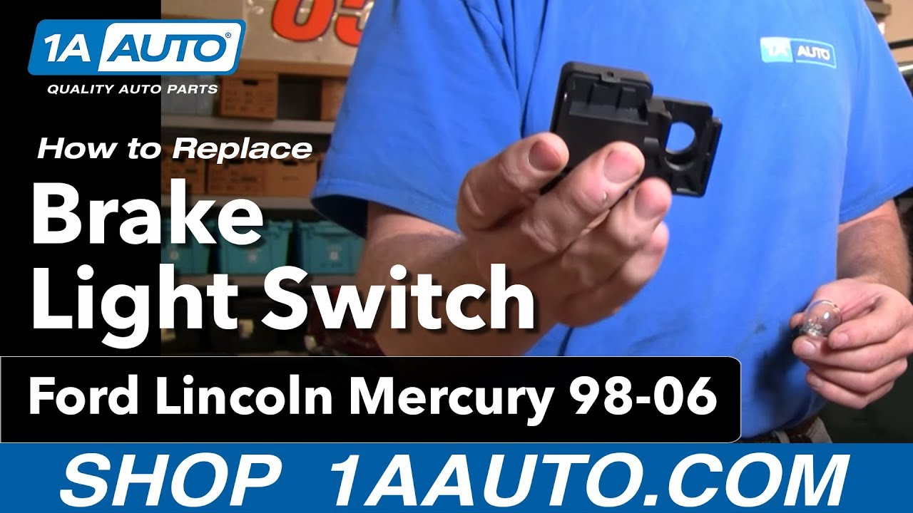 how to install replace brake light switch ford lincoln mercury 98 06 1aauto com [ 1280 x 720 Pixel ]