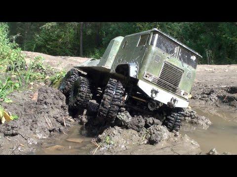 RC TRUCKS OFF Road 4x4 MUD Terrain - Scale model: Tamyia Semi Truck 6x6, Axial SCX10 Honcho, Integy