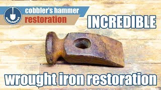 Incredible Wrought Iron Cobblers Hammer Custom Restoration With Blueing