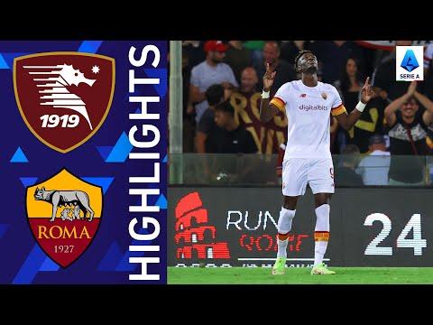 Salernitana AS Roma Goals And Highlights