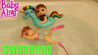 BABY ALIVE Swimming With Baby Born baby alive videos