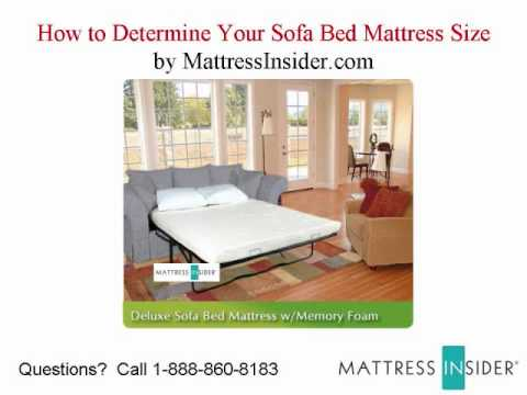 Sofa Bed Mattress How To Determine Your Sofa Mattress Size YouTube - Sleeper sofa mattress sizes