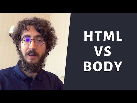 Et Toi Comment Tu Fais ? HTML VS Body En CSS