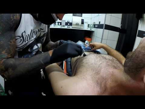 Nipple piercing - Dirty Roses Tattoo Studio - Thessaloniki - Greece (1080p)