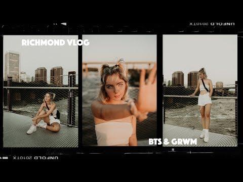 VLOG 4 | RICHMOND PHOTOSHOOT, GRWM & BTS