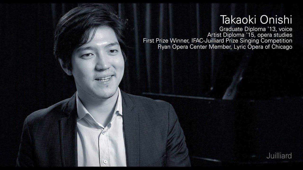 Juilliard Snapshot: Takaoki Onishi