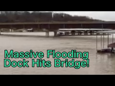 Dock Hits Bridge! Lake of the Ozarks Massive Flooding!